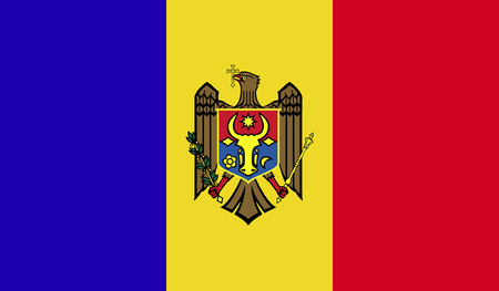 Moldova flag image for any design in simple style Reklamní fotografie - 105790191