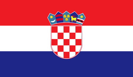 Croatia flag image for any design in simple style Stock Photo