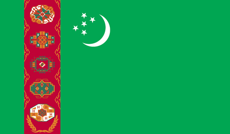 Turkmenistan flag image for any design in simple style