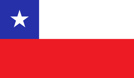 Chile flag image for any design in simple style