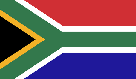 South Africa flag image for any design in simple style
