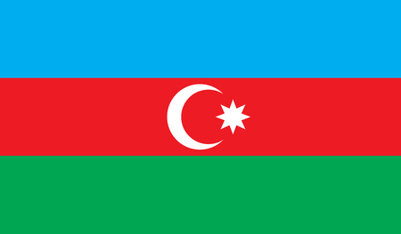 Azerbaijan flag image for any design in simple style Stock Photo