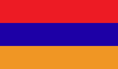 Armenia flag image for any design in simple style Stock Photo