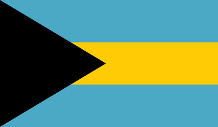 Bahamas flag image for any design in simple style