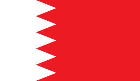 Bahrain flag image for any design in simple style