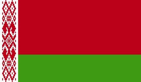 Imagen de la bandera de Bielorrusia para cualquier diseño de estilo sencillo