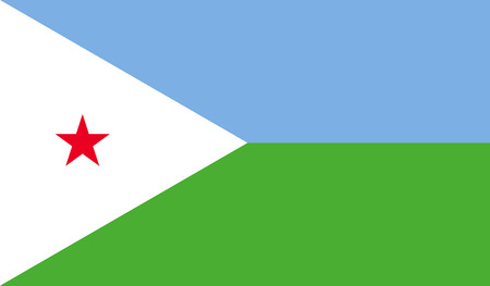 Djibouti flag image for any design in simple style