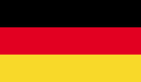 Deutschland flag image for any design in simple style
