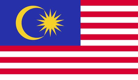 Malaysia flag image for any design in simple style Stock Photo