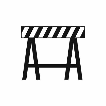 흰색 배경에 고립 된 단순한 스타일의 교통 장벽 아이콘 스톡 콘텐츠 - 105793357