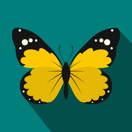 Butterfly icon in flat style for any design