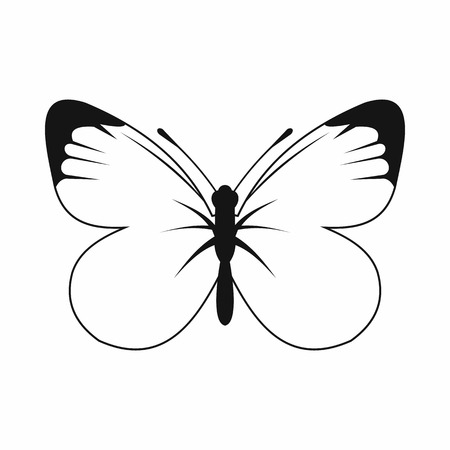 Butterfly icon in simple style for any design Imagens