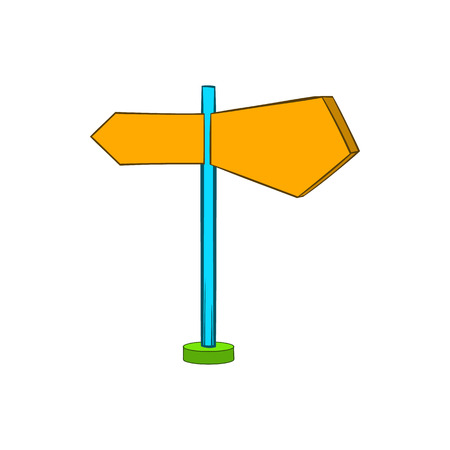Direction signs icon in cartoon style on a white background