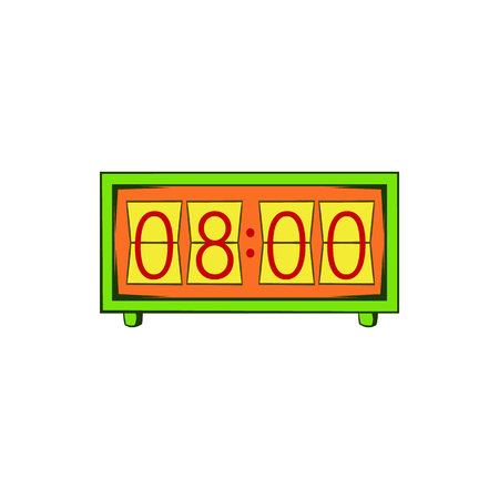 Analog flip clock icon in cartoon style on a white background 写真素材