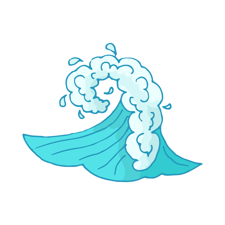 Water wave icon isolated on white background