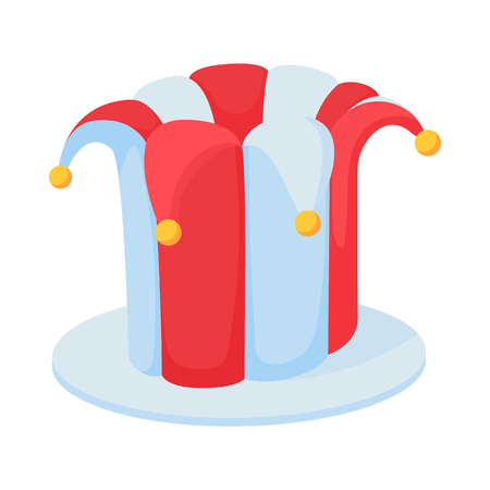Jester hat icon in cartoon style on a white background Фото со стока