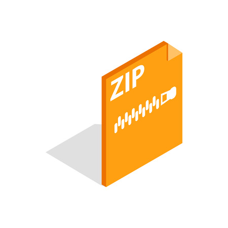 Archive ZIP format icon, isometric 3d style Stock Photo
