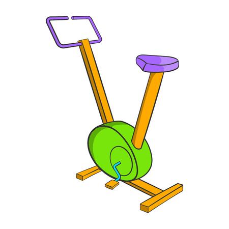 Fitness bike icon, cartoon style