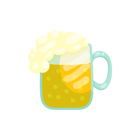Mug of beer icon in cartoon style