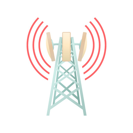 Tower with telecommunications equipment icon 版權商用圖片