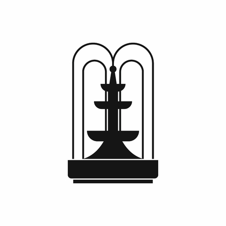 Fountain icon in simple style. Water source symbol isolated illustration 免版税图像