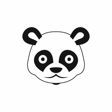 Head of panda icon in simple style isolated illustration Stockfoto