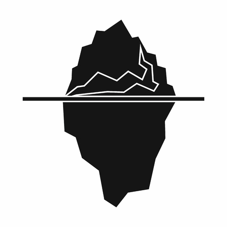 Iceberg icon in simple style isolated illustration Banque d'images - 105976072