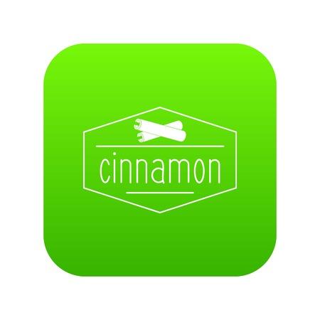 cinnamon icon green vector