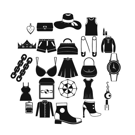Possessions icons set. Simple set of 25 possessions vector icons for web isolated on white background Illustration