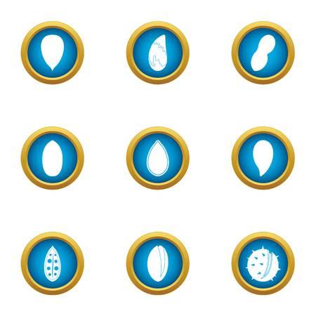 Tasty fruit icons set. Flat set of 9 tasty fruit vector icons for web isolated on white background Illustration