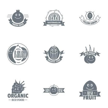 Vegan foodstuff  set, simple style Illustration