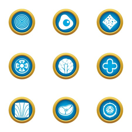 Meat meeting icons set. Flat set of 9 meat meeting vector icons for web isolated on white background