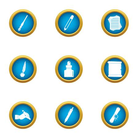 Copyist icons set. Flat set of 9 copyist vector icons for web isolated on white background