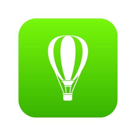 Hot air ballon icon digital green for any design isolated on white vector illustration Ilustração