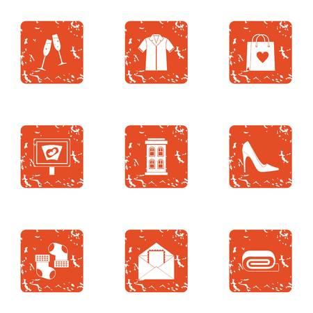 Christmastime icons set. Grunge set of 9 christmastime vector icons for web isolated on white background