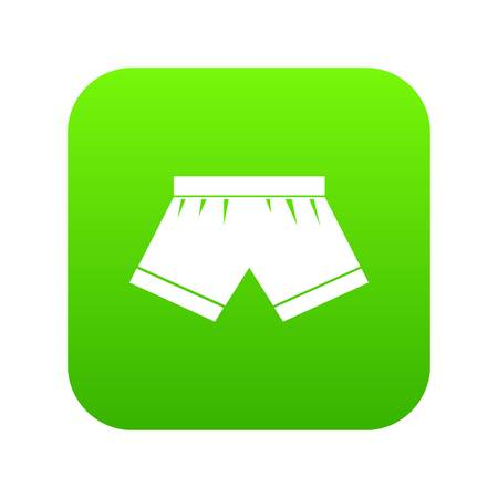 Male underwear icon digital green for any design isolated on white vector illustration