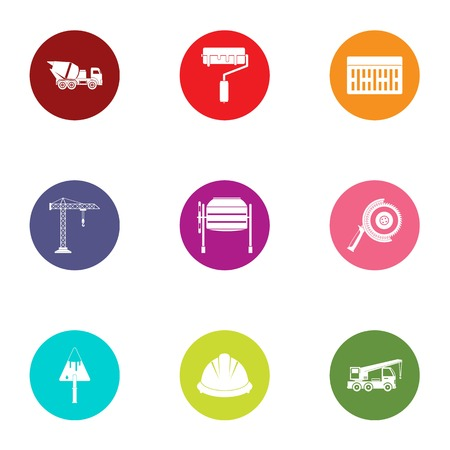 Waste matter icons set. Flat set of 9 waste matter vector icons for web isolated on white background