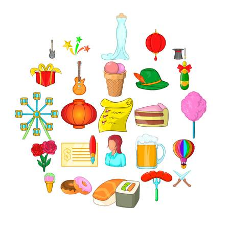 Catering icons set. Cartoon set of 25 catering vector icons for web isolated on white background