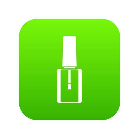 Nail polish bottle icon digital green for any design isolated on white vector illustration