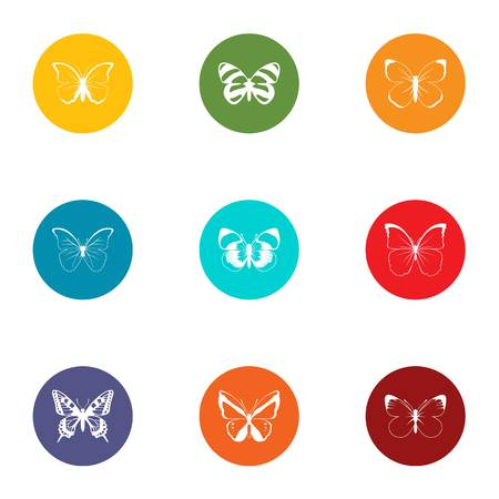 Cutworm icons set. Flat set of 9 cutworm vector icons for web isolated on white background