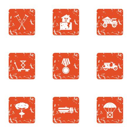 Strengthen the structure icons set. Grunge set of 9 strengthen the structure vector icons for web isolated on white background