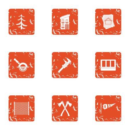 Edify icons set. Grunge set of 9 edify vector icons for web isolated on white background Illustration