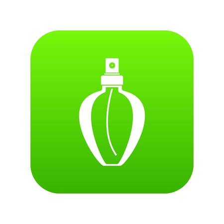 Parfume bottle icon digital green for any design isolated on white vector illustration