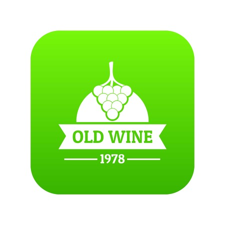 Wine natural icon green vector Vectores