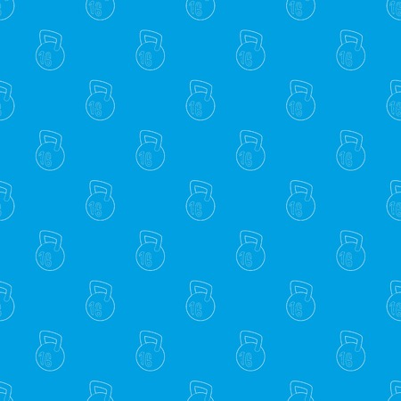 Kettlebell pattern vector seamless blue repeat for any use Foto de archivo - 112198837