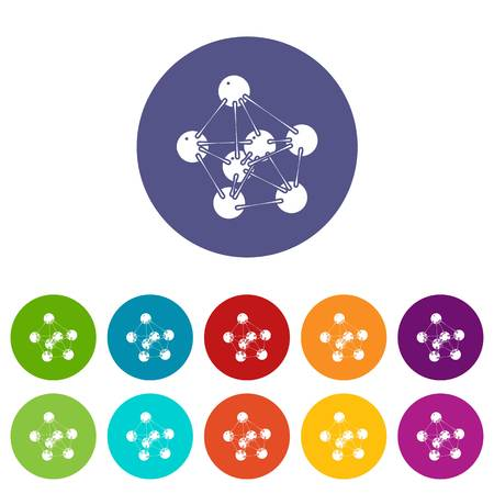 Phenol icons set vector color