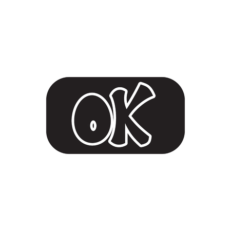 Sign ok icon in simple style isolated on white background. Click and choice symbol