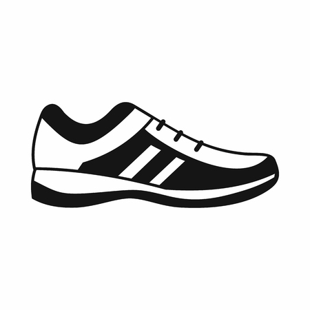 Men sneakers icon in simple style isolated on white background. Wear symbol