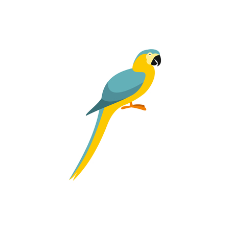 Parrot icon in flat style on a white background 스톡 콘텐츠