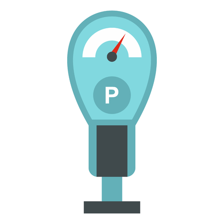 Parking meter icon in flat style isolated on white background Imagens